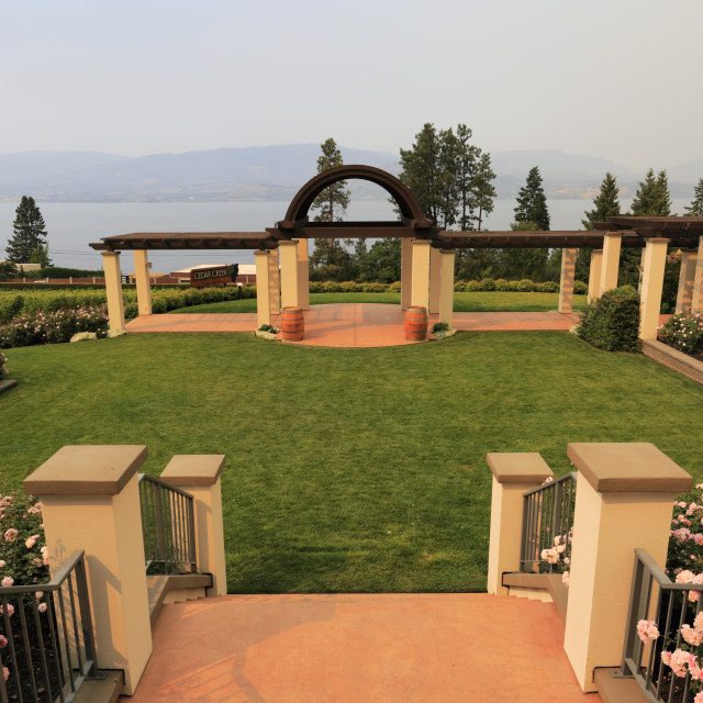 """The Cedar Creek Winery, West Kelowna, Okanagan valley, British Columbia, Canada"" stock image"