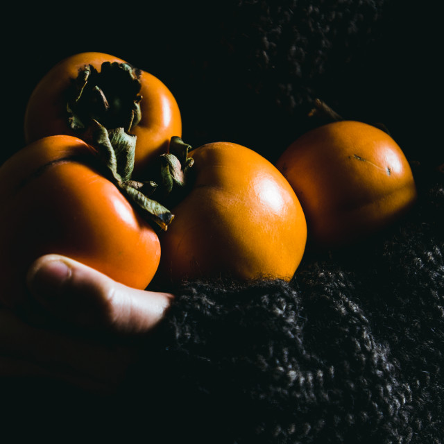 """""""five persimmons"""" stock image"""