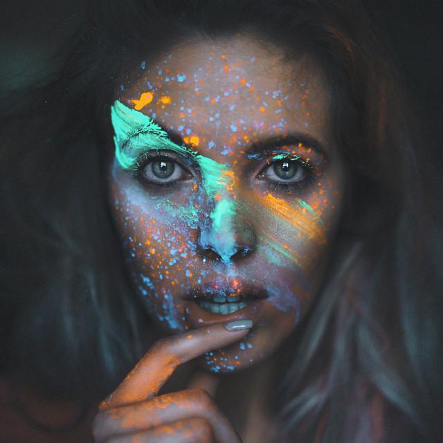 """""""Neon Portrait"""" stock image"""
