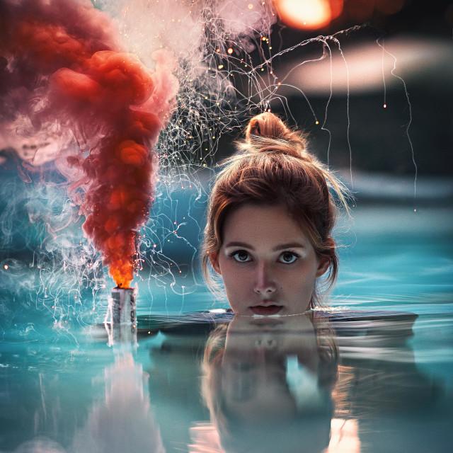 """Smoke on the water"" stock image"