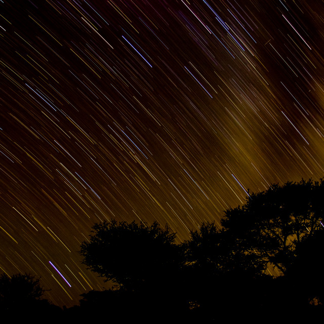 """""""Mikyway star trail - Molopo"""" stock image"""