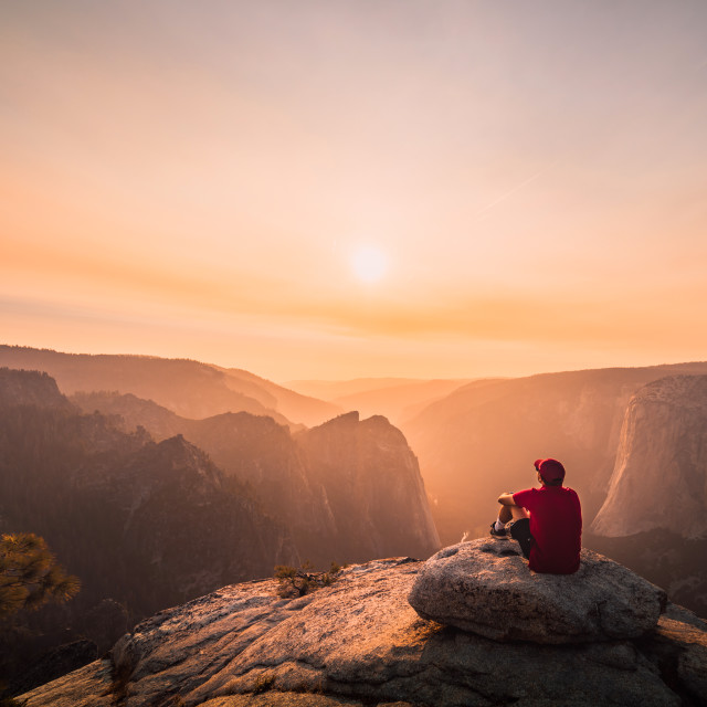 """View from Taft point, Yosemite"" stock image"