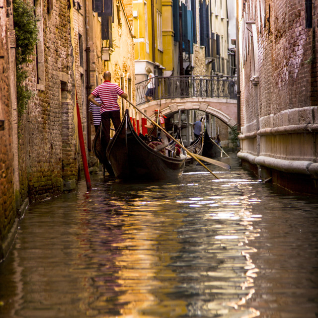 """""""Vibrant Canal"""" stock image"""