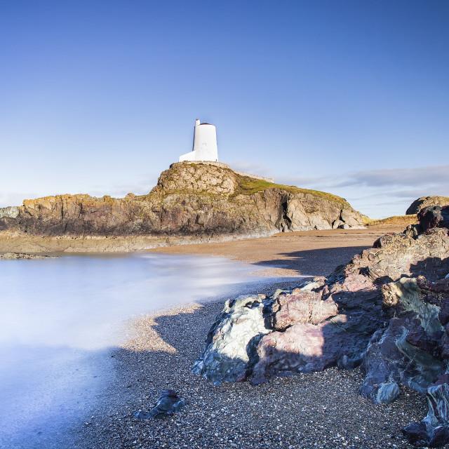 """Tŵr Mawr Lighthouse"" stock image"