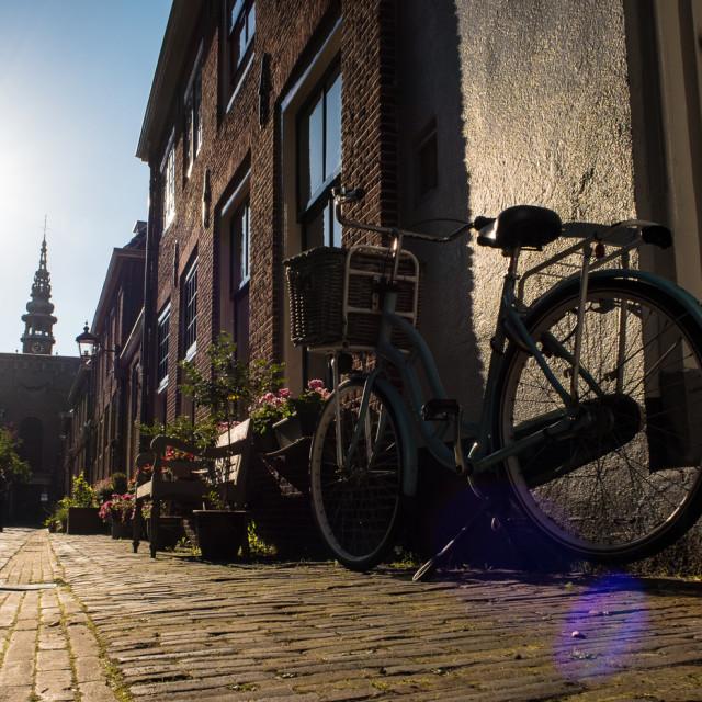 """Dutch Bike in the sun"" stock image"