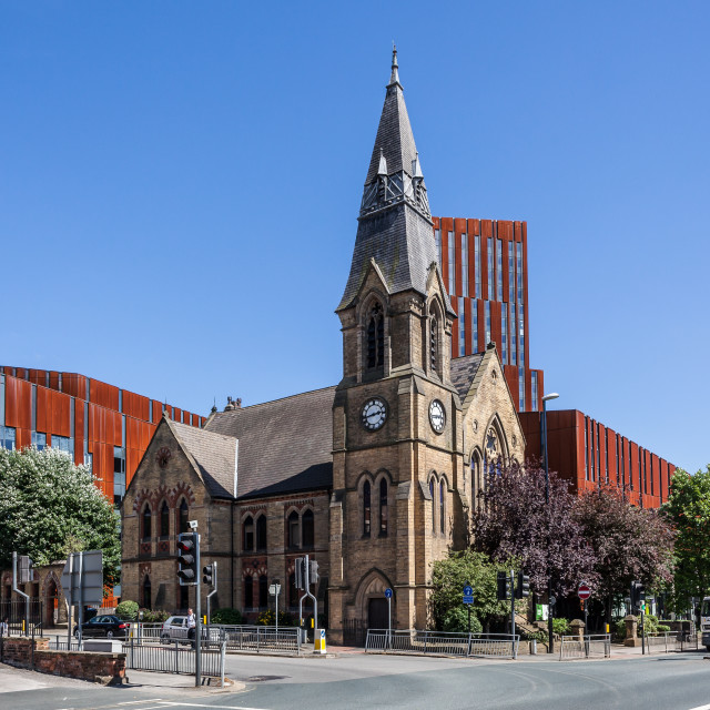 """""""Broadcasting Place and St David's Church"""" stock image"""