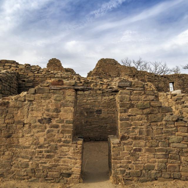 """""""Aztec Ruins T Shaped Door"""" stock image"""