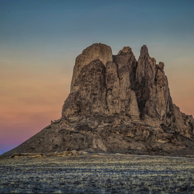 """""""Ford Butte Sunset"""" stock image"""