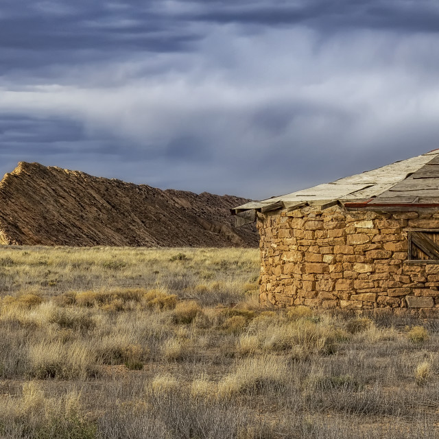 """Traditional Navajo Hogan"" stock image"