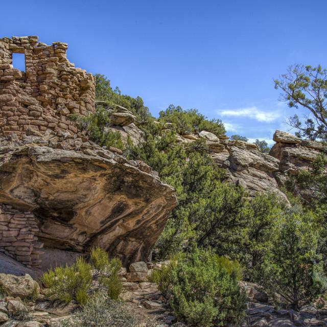 """Painted Hand Pueblo"" stock image"
