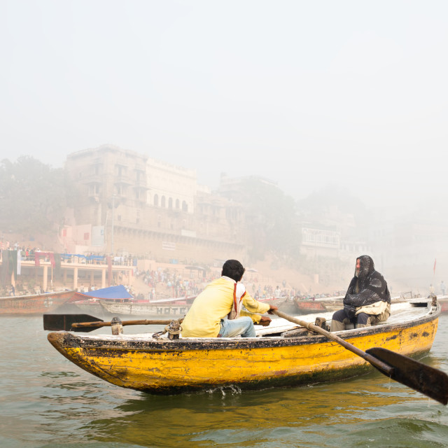 """Ganga Boat Tour"" stock image"