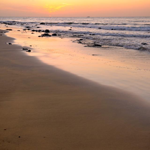 """Sunrise in Puerto Del Carmen, Spain."" stock image"