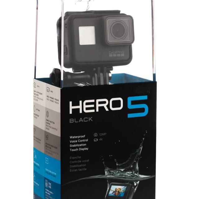 """Varna, Bulgaria - March 9, 2017: GoPro Hero 5 isolated on white"" stock image"