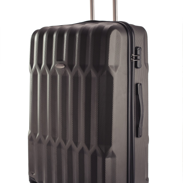 """Black suitcase for travalling on white background"" stock image"
