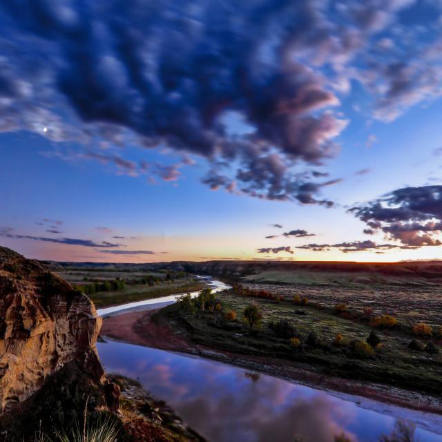 """Teddy Roosevelt National Park Sunset"" stock image"
