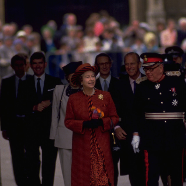 """Queen Elizabeth and Duke of Edinburgh"" stock image"