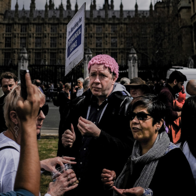 """""""March for science 2017 London"""" stock image"""