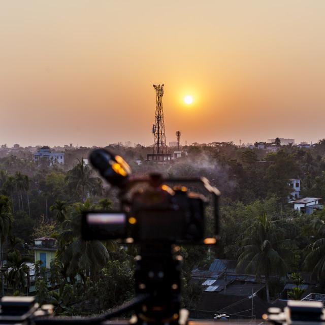 """Sunrise in Sylhet"" stock image"