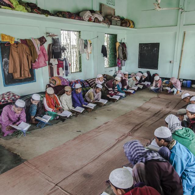 """Inside a Madrasa"" stock image"