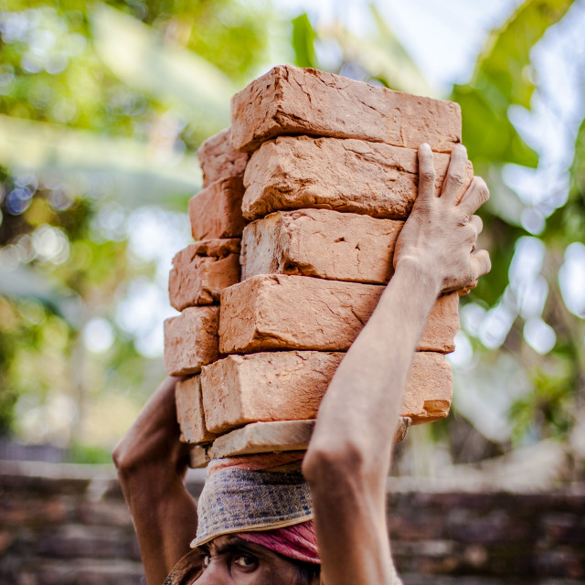 """Bricklayer"" stock image"