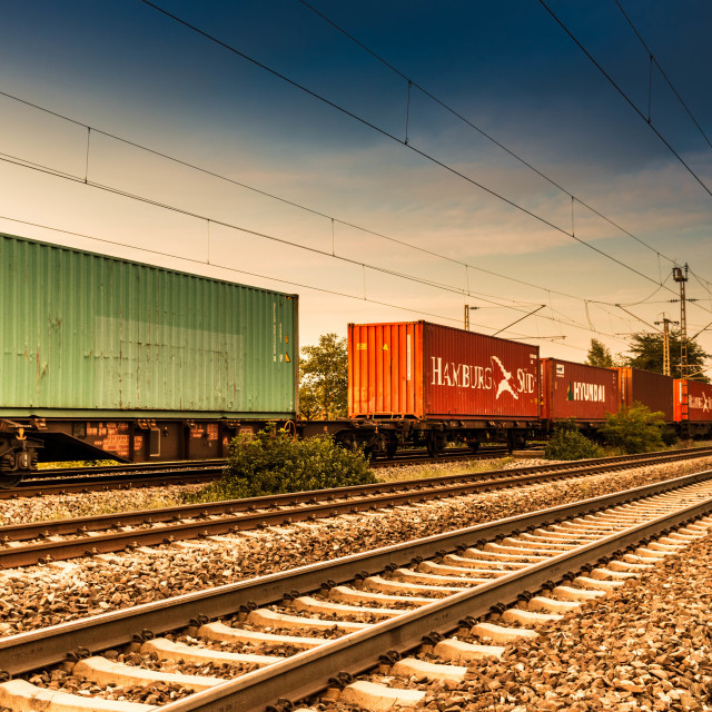 """Cargo Train Cars"" stock image"