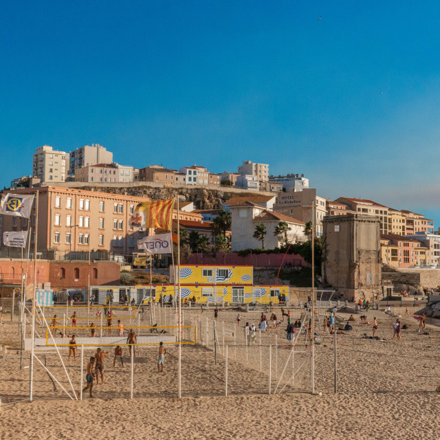 """Beach Volleyball,Marseille, France"" stock image"