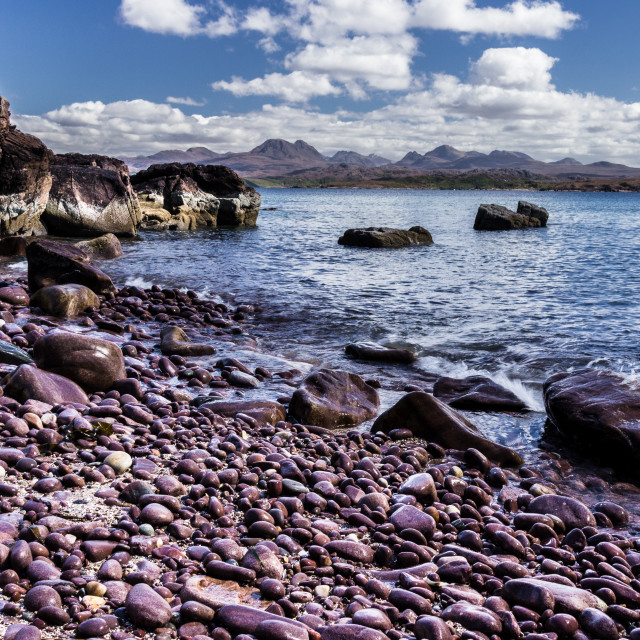 """The Torridon Range of Mountains."" stock image"