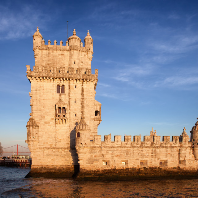 """Belem Tower in Lisbon at Sunset"" stock image"