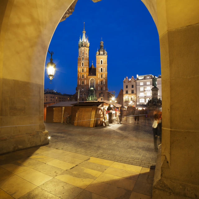 """Krakow by Night"" stock image"