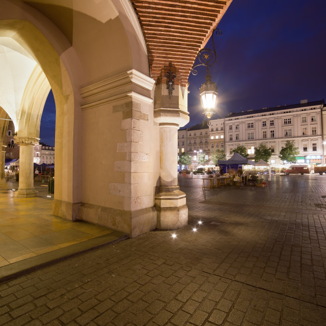 """Krakow Old Town in Poland at Night"" stock image"