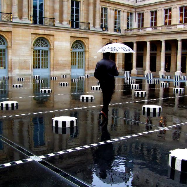 """Paris with the rain"" stock image"
