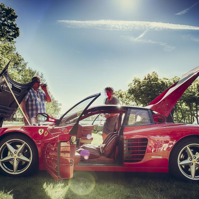 """Ferrari Testarossa"" stock image"