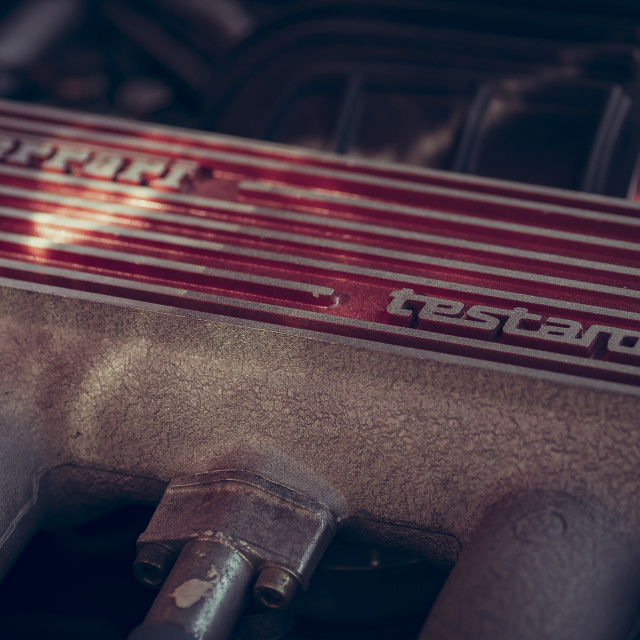"""Testarossa engine block"" stock image"
