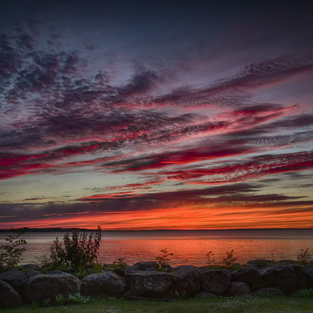 """Sunset Vadstena"" stock image"