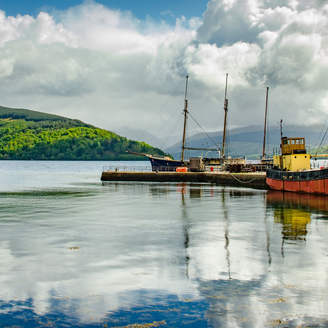 """Inveraray Harbour"" stock image"