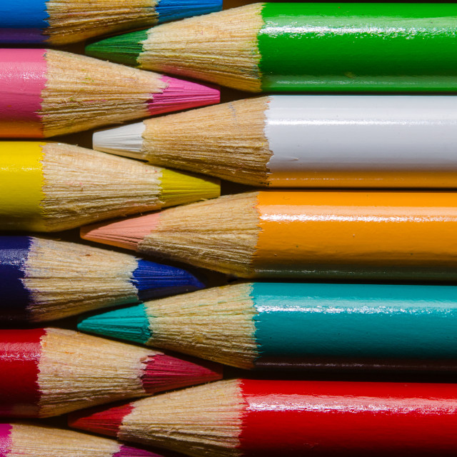 """Colourful pencils"" stock image"