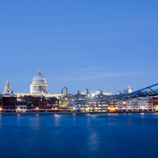 """St Paul's and the Thames"" stock image"