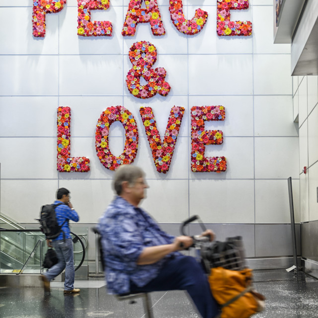 """Peace and Love"" stock image"