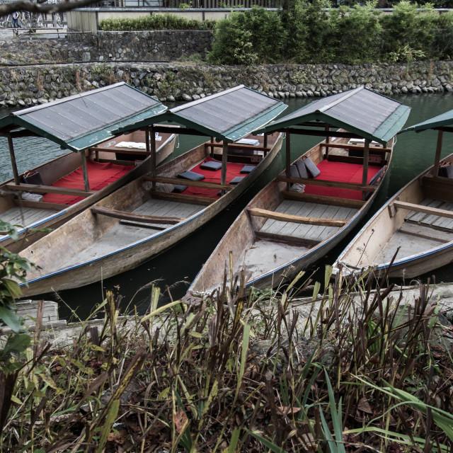 """Boats Await"" stock image"