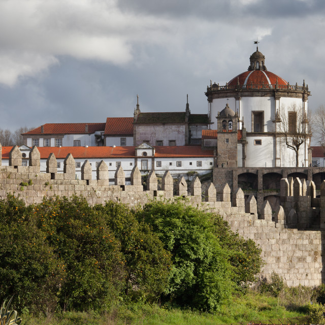 """Muralhas Fernandinas and Serra do Pilar in Porto"" stock image"