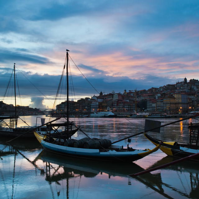 """City of Porto in the Evening"" stock image"