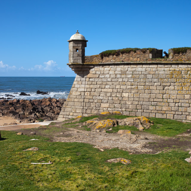"""Queijo Castle by the Atlantic Ocean in Porto"" stock image"