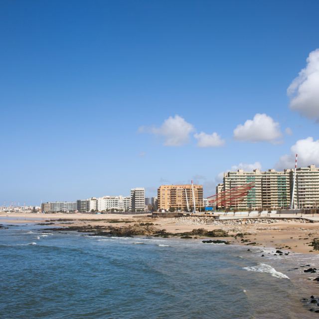 """City of Matosinhos Skyline in Portugal"" stock image"