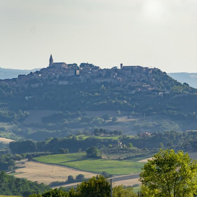 """Todi cityscape in Italy"" stock image"