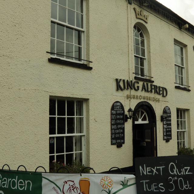 """King Alfred pub"" stock image"