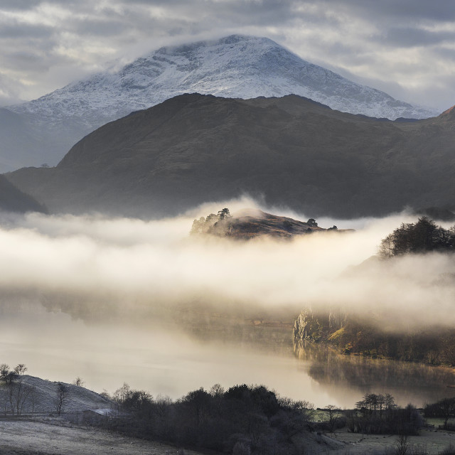 """""""Winter in wales."""" stock image"""