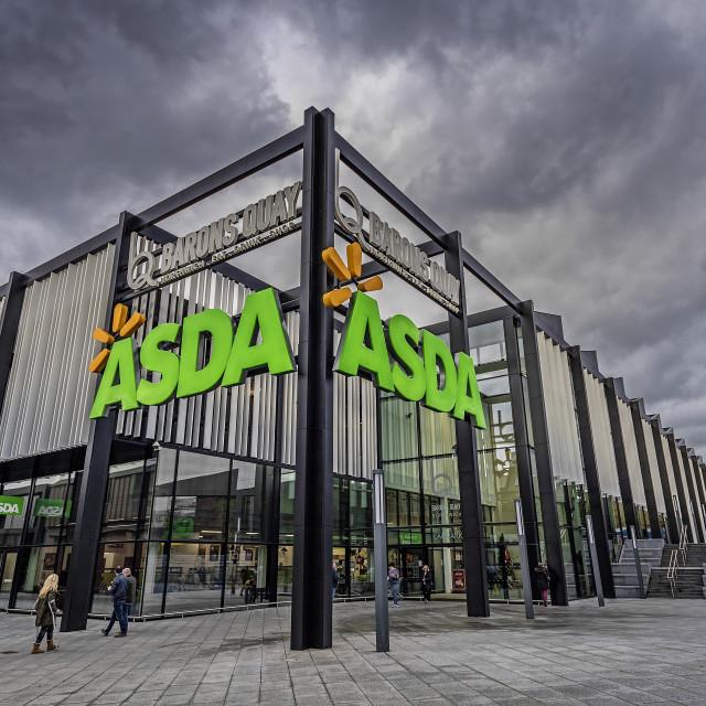 """ASDA. A new super Market."" stock image"