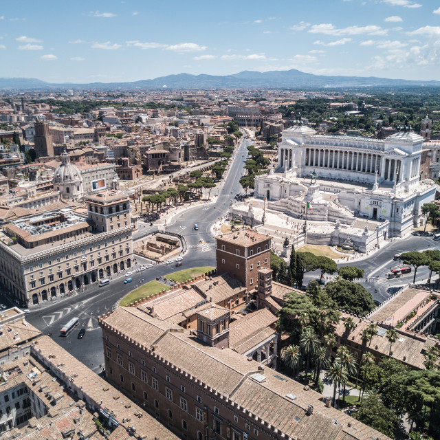 """Piazza Venezia, Rome, Italy"" stock image"