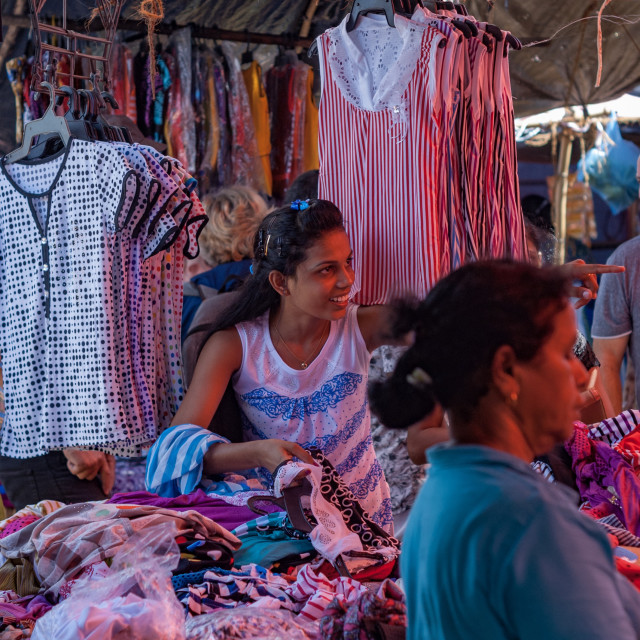 """Sri Lankan Market at Induruwa"" stock image"