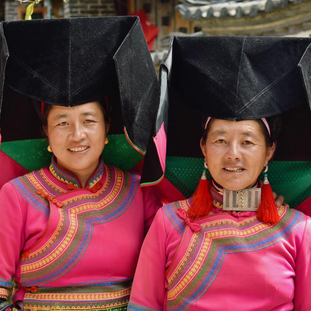 """""""Two Yi ladies"""" stock image"""
